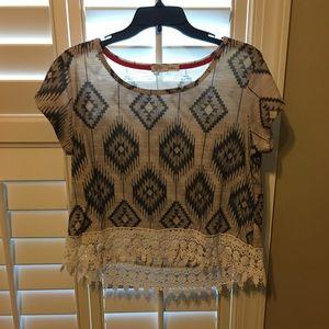 Fun Lace Pattern Crop Top!